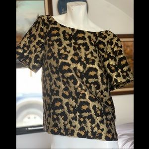 Anthropologie Hutch Leopard Top